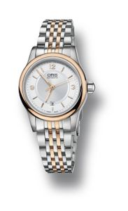 Preview image of Oris Steel and Rose Gold Classic Date Ladies Watch