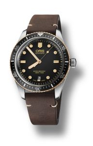 Preview image of Oris Divers Sixty-Five Steel and Bronze Gents Strap Watch