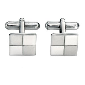 Preview image of Fred Bennett Brushed and Polished Square Cufflinks