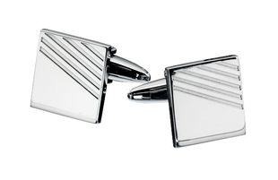 Preview image of Fred Bennett Ribbed Square Cufflinks