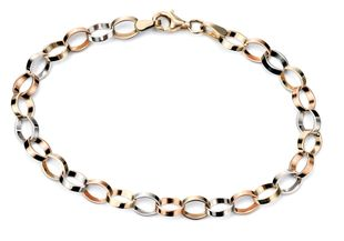 Preview image of Ladies Three Colour Gold Bracelet