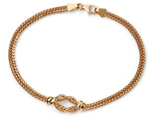 Preview image of Ladies 9ct Yellow Gold Lariat Knot Bracelet