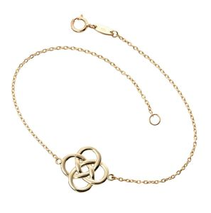 Preview image of Ladies 9ct Yellow Gold Celtic Bracelet