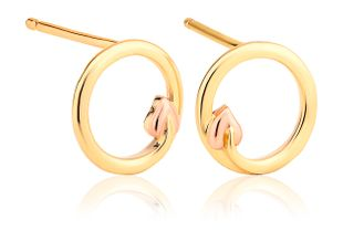 Preview image of Clogau 9ct Gold Tree of Life® Circle Stud Earrings