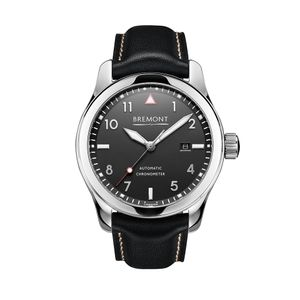 Preview image of Bremont SOLO Polished Black Strap Watch