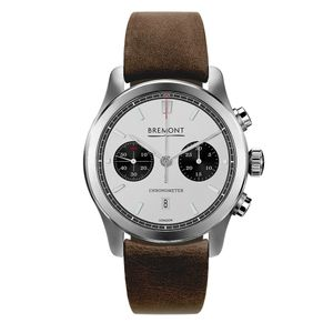 Preview image of Bremont ALT1-C White Chronograph Brown Leather Strap Watch
