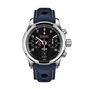 Preview image of Bremont Jaguar E-type MKII Black Chronograph Leather Strap Watch