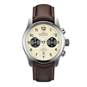 Preview image of Bremont ALT1-C Cream Chronograph Brown Leather Strap Watch