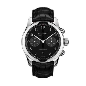 Preview image of Bremont ALT1-C Polished Black Chronograph Leather Strap Watch