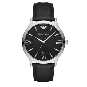 Preview image of Emporio Armani Giovanni Gents Black Leather Strap Watch