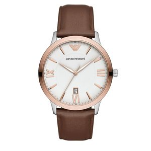 Preview image of Emporio Armani Giovanni Gents Brown Leather Strap Watch