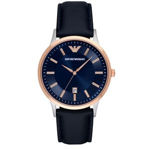 Preview image of Emporio Armani Renato Gents Blue Leather Strap Watch