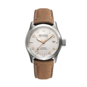 Preview image of Bremont SOLO-37 White & Rose Gold Strap Watch