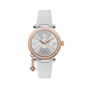 Preview image of Vivienne Westwood Orb Pastelle Rose Gold Stone Set Strap Watch
