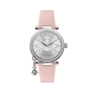 Preview image of Vivienne Westwood Orb Pastelle Pink Stone Set Strap Watch