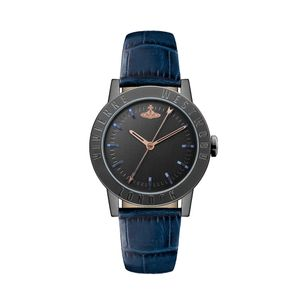 Preview image of Vivienne Westwood Warwick Black and Blue Strap Watch
