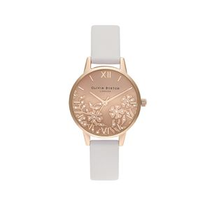 Preview image of Olivia Burton Ladies Bejewelled Lace Blush & Pale Rose Gold Watch