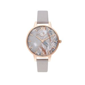 Preview image of Olivia Burton Abstract Florals Grey Lilac & Pale Rose Gold Watch
