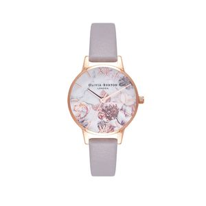 Preview image of Olivia Burton Ladies Marble Floral Lilac & Rose Gold Watch