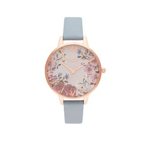 Preview image of Olivia Burton Ladies British Blooms Chalk Blue & Rose Gold Watch