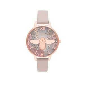 Preview image of Olivia Burton Ladies British Blooms 3D Bee Rose Gold Watch