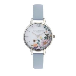 Preview image of Olivia Burton Enchanted Garden Blue and Silver Watch