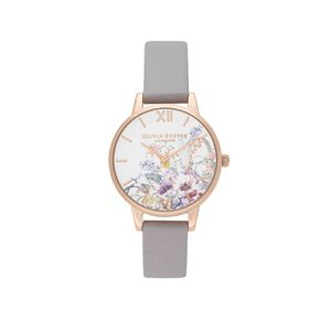 Preview image of Olivia Burton Enchanted Garden Grey Lilac and Pale Rose Gold