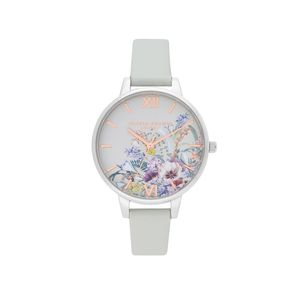 Preview image of Olivia Burton Enchanted Garden Vegan Grey & Silver Watch