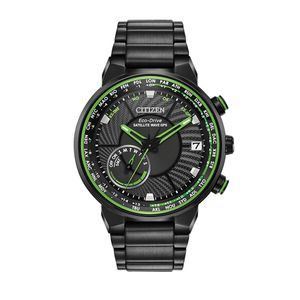 Preview image of Citizen Gents Satellite Wave Black Stainless Steel Bracelet Watch