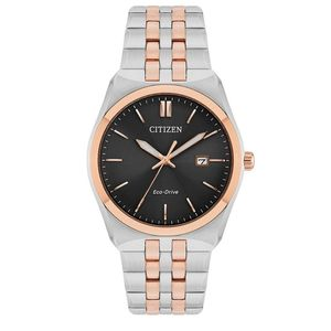 Preview image of Citizen Men's Rose Gold Plated and Stainless Steel Bracelet Watch