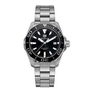Preview image of Tag Heuer Aquaracer 41mm Black Bezel Bracelet Watch