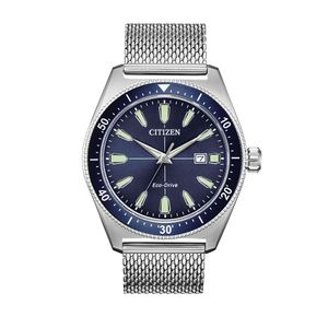 Preview image of Citizen Sport Blue Dial Mesh Bracelet Watch