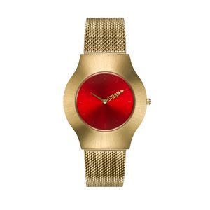 Preview image of Storm Ion Ladies Red Dial Gold Plated Bracelet Watch
