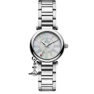 Preview image of Vivienne Westwood Ladies Orb Mother of Pearl Charm Bracelet Watch
