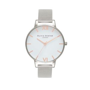 Preview image of Olivia Burton Ladies White Dial Rose Gold & Silver Mesh Watch