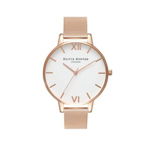 Preview image of Olivia Burton Ladies Big Dial Rose Gold Mesh Watch