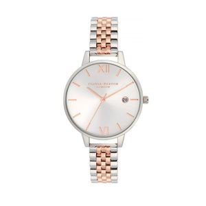 Preview image of Olivia Burton Sunray Demi Silver Dial & Rose Gold Bracelet Watch