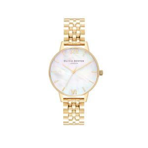 Preview image of Olivia Burton Ladies Mother of Pearl Gold Bracelet Watch
