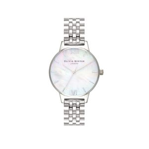 Preview image of Olivia Burton Ladies Mother of Pearl Silver Bracelet Watch