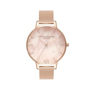 Preview image of Olivia Burton Ladies Semi Precious Rose Gold Mesh Watch