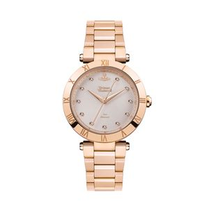 Preview image of Vivienne Westwood Montagu Stone Set Rose Gold Plated Bracelet Watch