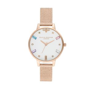 Preview image of Olivia Burton Ladies Rainbow Bee Pale Rose Gold Mesh Watch