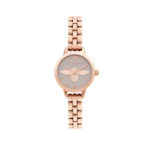 Preview image of Olivia Burton 3D Bee, Blush Dial & Rose Gold Bracelet Watch