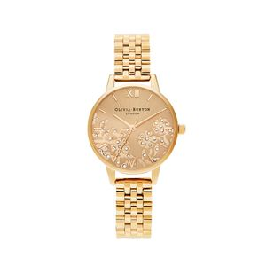 Preview image of Olivia Burton Bejewelled Lace Gold Bracelet Watch