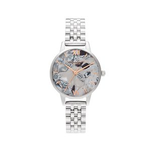 Preview image of Olivia Burton Abstract Florals Rose Gold & Silver Bracelet Watch
