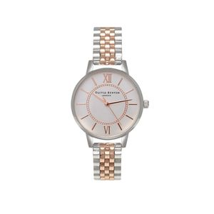 Preview image of Olivia Burton Ladies Wonderland Bracelet Silver & Rose Gold Watch