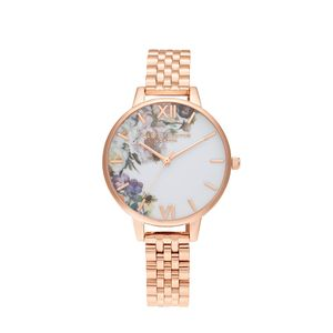 Preview image of Olivia Burton Enchanted Garden Demi Gold Bracelet Watch
