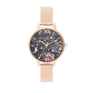 Preview image of Olivia Burton Celestial Rose Gold Boucle Mesh Watch