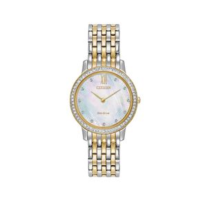 Preview image of Ladies Citizen Eco-Drive Silhouette Crystal Watch