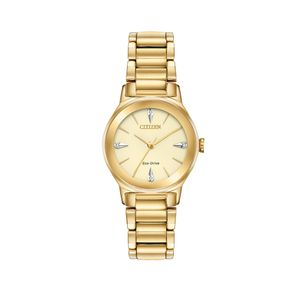 Preview image of Citizen Ladies Eco-Drive Axiom Gold Plated Diamond Watch